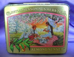 Celestial Seasonings Almond Sunset 1980s tea tin