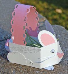 CUTE!!!  Bunny basket made with SU Milk Carton die.