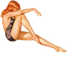 Love Red Head Pin-Up Girls....