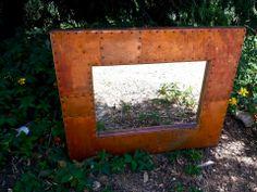 Copper Mirror can be made in custom sizes!  www.vaughanrusticfurniture.com www.facebook.com/VaughanFurniture