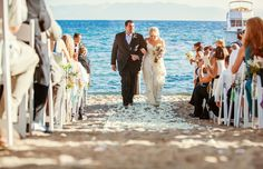 Sunny Lake Tahoe Beach Ceremony Recessional