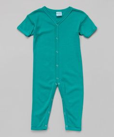 perfect for LA winters.  Lovethe color too!  Short-Sleeve Playsuit - Infant on #zulily! #zulilyfinds