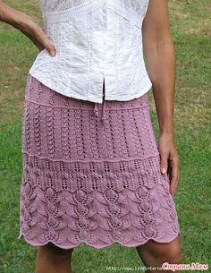 eea6b46955 Le migliori 16 immagini su gonna ai ferri   Knitting patterns, Knit ...
