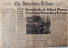 The Johnstown Tribune - World War II: April 27, 1944: Hundreds of Allied Planes Continue...