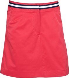 Tommy Hilfiger Golf Abigail Ladies Golf Skort in Cardinal with blue/white waistband | #Golf4Her $29.95