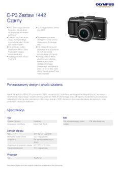 Olympus PEN E-P3 // specyfikacja 1/7 bit.ly/PEN_E-P3