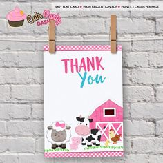 Girly Barnyard birthday party invitation. You purchase the printable file and print as many times as you need at home or places like Walgreens, Costco, CVS, Staples, etc. These are HIGH RESOLUTION printable PDF files. No printed materials will be shipped. A link to download files will
