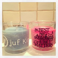Personalized candles.  Silhouette Cameo