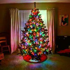 Christmas tree glow!