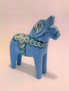 5-Baby-Blue-Swedish-Dala-Horse-Folk-Art-Wood-Carving-by-Grannas-A-Olssons