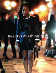 """Tasha St Patrick's Leather Jacket With Crystal Collar & Cuffs on """"Power"""""""