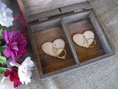 Beautiful Bridal: His and Her Wood Ring Bearer Box