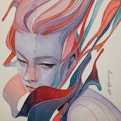 watercolor on @madebyadapt sketchbook by elfandiary