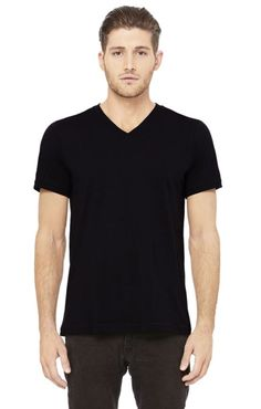 Offered in 7 fantastic colours, perfect for anyone's style, this Bella+Canvas Delancey V-Neck T-Shirt is a 7 oz. 100% combed ring-spun cotton baby jersey knit v-neck. It's sophisticated enough to wear alone, yet light enough to wear as an undershirt. Throw your worn-out shirts away and re-up on this classic tailored shirt.