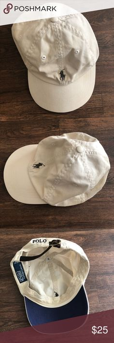 101a6813416 Polo Ralph Lauren Strapback Khaki Hat -Good condition and plenty of wear  left. -