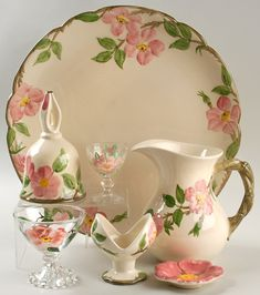 Franciscan Dishes. Pattern: Desert Rose Some of my pieces are very old
