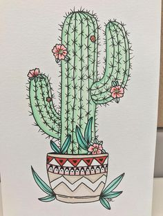 What is Your Painting Style? How do you find your own painting style? What is your painting style? Cactus Drawing, Cactus Painting, Plant Drawing, Cactus Art, Painting & Drawing, Cactus Plants, Cactus Flower, Buy Cactus, Green Cactus
