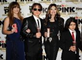 L-R) Paris Jackson, Prince Michael Jackson, La Toya Jackson and Blanket Jackson attend the Mr. Pink Ginseng Drink launch party at Regent Beverly Wilshire Hotel on October 11, 2012 in Beverly Hills, California. (Photo by Jason LaVeris/FilmMagic)