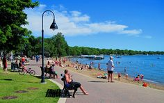Clear Lake, Iowa's one-and-only City Beach, one of USA Today's top 50 beaches in the US!