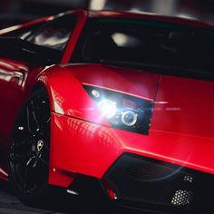 Red #Lamborghini #Murcielago