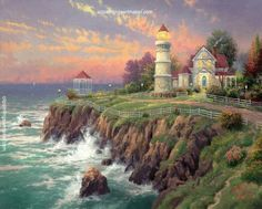Thomas Kinkade Victorian Light painting sale sites, painting Authorized official website