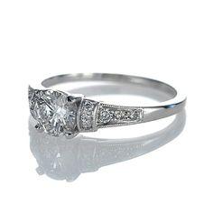 another amazing 1930's Art Deco ring! It's a little bit more modern, but still art deco! Love it!
