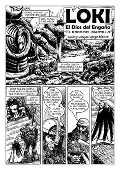 Página 1 del comic Loky, el Dios del engaño