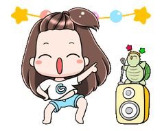 LINE Official Stickers - Gyoza: Animated Stickers Example with GIF Animation Pretty Gif, Cute Love Gif, Cute Cat Gif, Cute Cartoon Pictures, Cute Love Cartoons, Cute Pictures, Cartoon Gifs, Cartoon Art, Funny Riddles