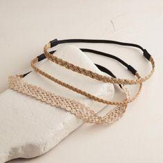 Natural Tonal Braided Headbands, Set of 3 | World Market
