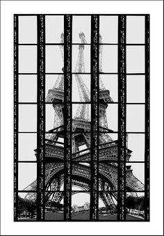 Thomas Kellner - Photography in Art: Paris, Tour Eiffel Tour Eiffel, Torre Eiffel Paris, Photomontage, Monuments, Ex Machina, Glitch Art, Deconstruction, Belle Photo, Black And White Photography