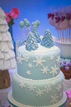 bolo aniversario glace azul - Pesquisa Google