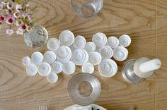 SUR UN LIT DE ROSES DIY centre de table spécial Saint-Valentin www.lesyeuxenamande.com
