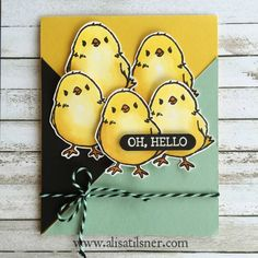 Stampin Up Honeycomb Happiness - cuter when there's a few of them!