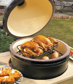 The big green egg - OK I don't have one of these but great for smoking and roasting. Has a ceramic enclosure and you can really control the heat of the charcoal by regulating the air flow.