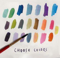 Lovely color palette via AERIN Lauder's FB Page