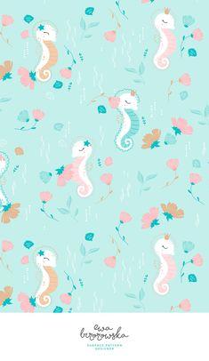 Seahorses - mint ver