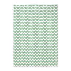 Chevron Zigzag Pattern Mint Green a 5x7'Area Rug on CafePress.com