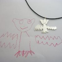 Your child's art into jewelry