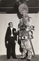 Johann Petursson - ,Throughout his sideshow career he often dressed up in a suit and top hat, or his more famous Viking costume. While exhibiting himself in Sarasota, Florida he often claimed to have stood 8 ft 8 inches tall