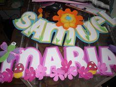 Q'LINDO Manualidades: MIS NOMBRES EN FOAMI..LO HAGOS CON MUCHO CARIÑO..ESPERO LES GUSTE Foam Crafts, Neon Signs, Birthday, Party, Diy, Rihanna, Banners, Classroom, Baby Shower