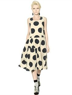 POLKA DOTS COTTON POPLIN DRESS