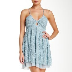 🎀HP🎀NWT Free People dress NWT Free People dress with cris-cross straps. beautiful lace all over                                    ❌no trades❌                            ✅offers accepted✅ Free People Dresses Mini