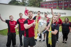 During the September 2013 Welcome Week the Leicester Tigers brought the Aviva Premiership trophy, which they had just won for the tenth time, to our campus. Our rugby teams were lucky enough to get their hands on the trophy, thanks to our fantastic partnership with the Tigers, which offers reduced price tickets to all our students and staff. #rugby #leicestertigers #avivapremiership #dmu #sport