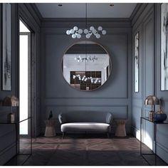 Luxury Homes - Interior Design - Home Furnishings Interior Neoclásico, Room Interior Design, Neoclassical Interior Design, Modern Classic Interior, Contemporary Interior, Dark Interiors, Hotel Interiors, Luxury Home Decor, Luxury Homes