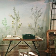 JARDIN D'HIVER PREVIEW!!! 17 NOVEMBRE @solamentegiovedi #decor #home #design #interior #flower #trees #nature #wall #painting #decoration #workinprogress #hardworking #ilovemyjob