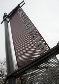 University Circle Landmark ID, punched metal dimensional letters