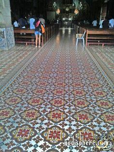 historic tile floors | ... flower inspires floor tiles used in Nagcarlan Church floors and isle