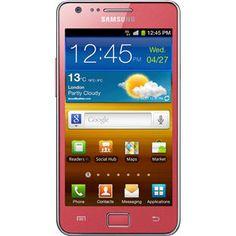 SAMSUNG I9100-CORAL-PINK 8MP KAMERA BLUETOOTH WIFI FM 3G GPS GALAXY S2 Pembe