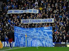 Rangers fans protesting about a potential deal to rename Ibrox Stadium Rangers Football, Rangers Fc, Glasgow, Fans, Cold, Image