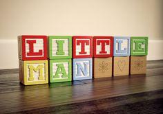 Little Man UNFRAMED PRINT   Wooden block by LockhartandJones, £8.50